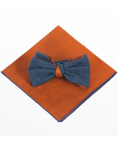 Pochette costume soie orange TOM CLIPPERTOWN®