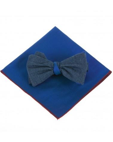 Pochette soie bleu TOM CLIPPERTOWN®