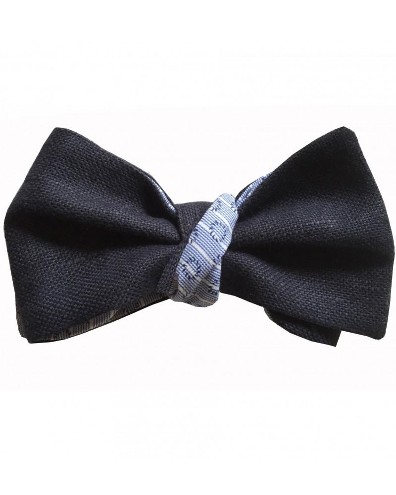 Noeud Papillon lin marine et coton TOM CLIPPERTOWN®