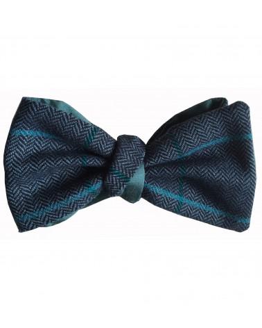 Noeud Papillon tartan bleu cobalt TOM CLIPPERTOWN®