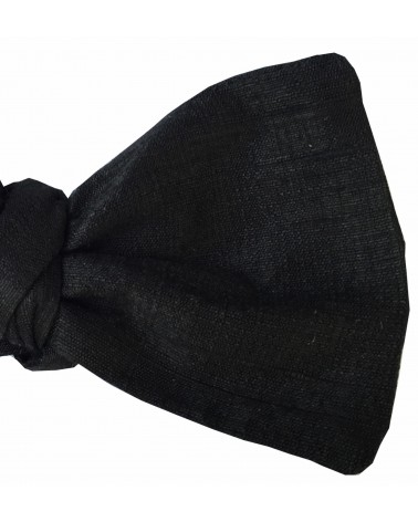 Noeud Papillon soie noir TOM CLIPPERTOWN®