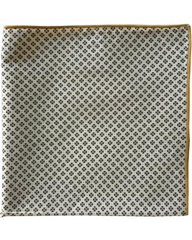 Pochette mariage imprimé blanc bronze TOM CLIPPERTOWN®