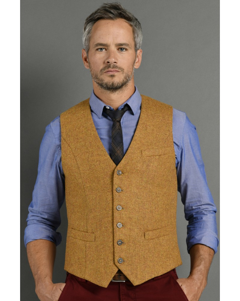 Gilet costume tweed moutarde TOM CLIPPERTOWN®